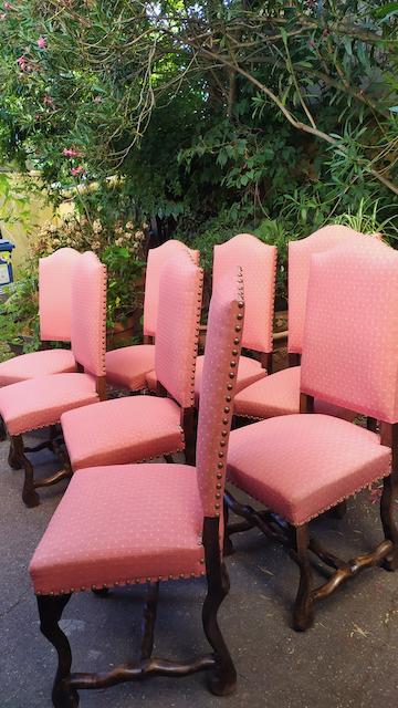 chaises louis XIII os de mouton
